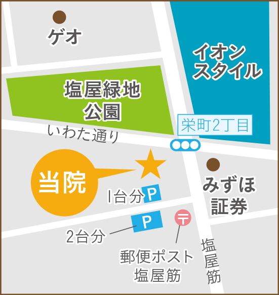 よしだ歯科クリニック 駐車場略地図